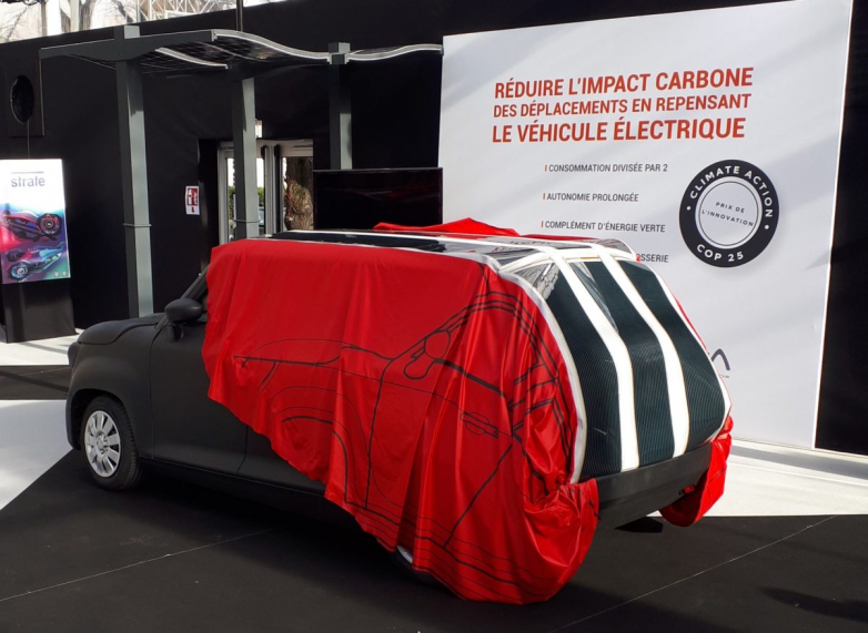 Solar automobile tarpaulin to reenergize EV batteries