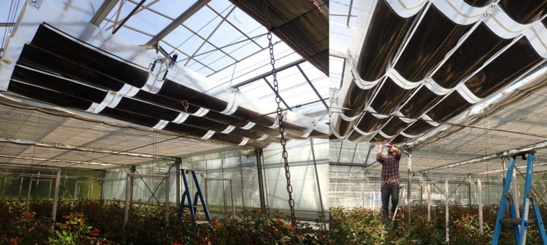 Photovoltaic shade for greenhouses